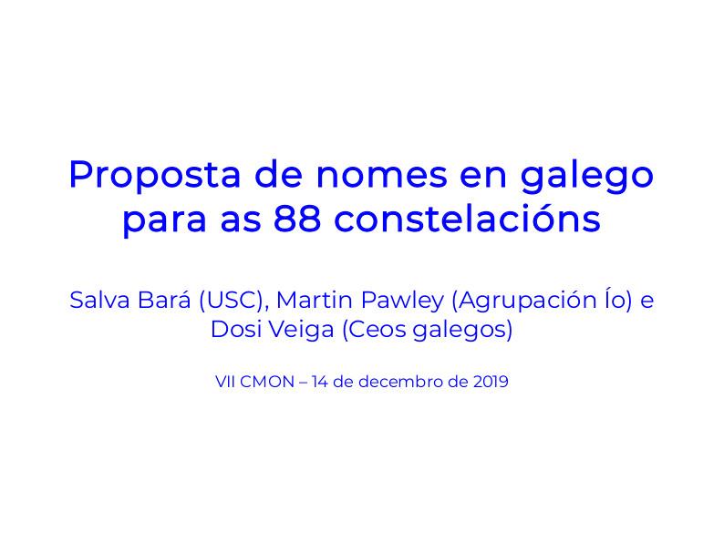 Proposta de nomes en galego das 88 constelacións