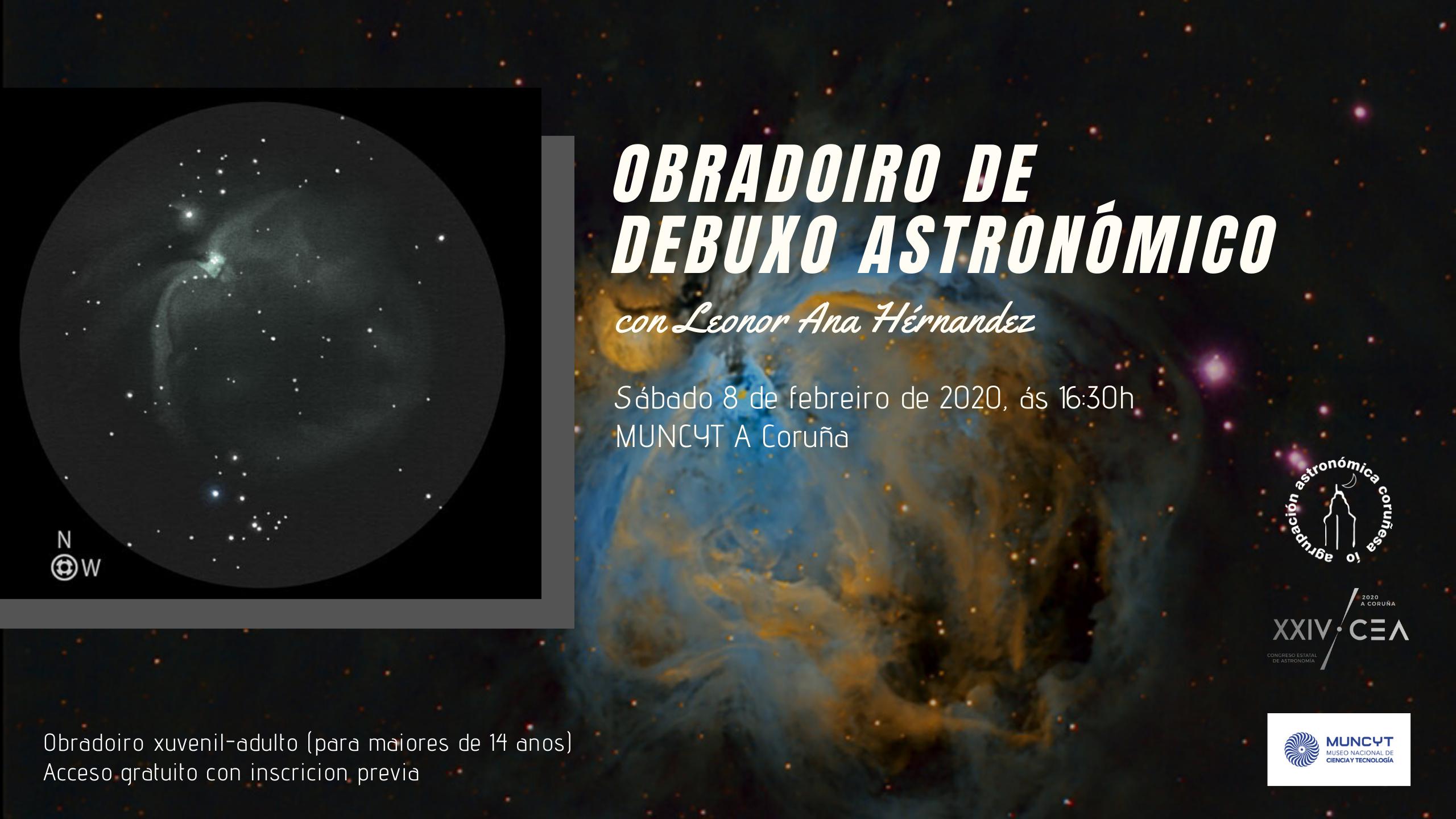 Talleres de dibujo astronómico en A Coruña
